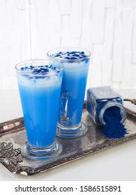 This blue latte is colored with natural phycocyanin extracted from blue spirulina algae