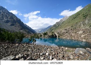 This is the blue Naltar lake along Naltar valley ,Gilgit , nothern Pakistan