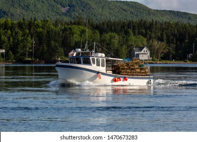 This boat is for lobster fishing but now it's the end of the season