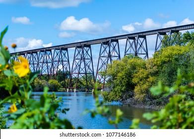 This Bridge runs over the valley in Valley City North Dakota