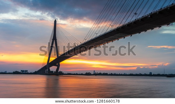 This is Can Tho Bridge on Mekong River