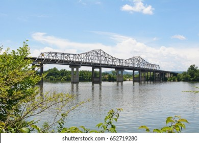 This cantilever bridge was constructed in 1965 and spans the Tennessee River  out of Huntsville Alabama
