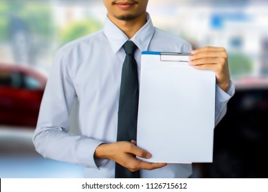This career man saleman business inspection writing on notepad or book,
