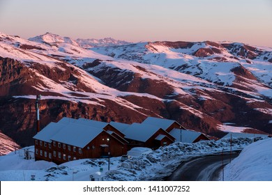 This is Chile (Valle Nevado), it is a skying base and and it has a really beautiful sunset!!