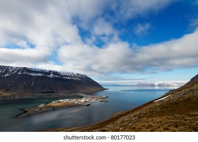 This is the city of Isafjordur on the Wesfjords peninsula in nothern Iceland