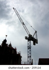 This is a crane in a construction site in Ilford.