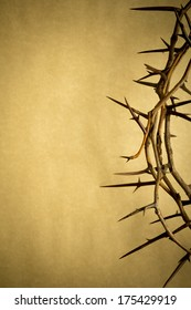 This Crown of Thorns against parchment paper represents Jesus's Crucifixion on the Cross, dying and then rising on Easter Sunday.