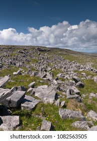 This defensive structure called a Cheval de fries field surrounds Dun Aonghasa (Dun Aengus).  Inishmore, Aran Islands, County Galway, Ireland.