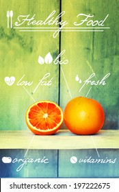 This is a diet photo info graphics with hand written text