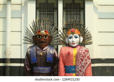 This is a doll from Jakarta Betawi called Ondel Ondel and used when there are cultural events