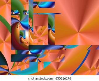 This is a dynamic abstract background and a cool design that children will love, created in high color with geometric shapes and lighting effects.