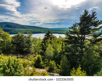 This is Eagle Lake, one of the largest lakes in Acadia National Park in Maine.