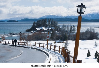This is the entrance to Llao llao hotel in Bariloche Argentina