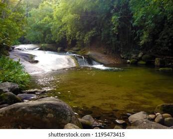 This is the Escorreguinha, a small fall that has in the river Sana, Rio de Janeiro, Brazil.