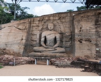 This exquisite buddha statue was erected in the 12 century at Polonnaruwa, Shri lanka.