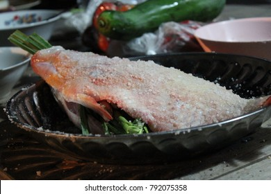 This fish is in the salt fermentation process.