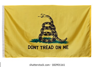 "This flag was designed by and is named for American general Christopher Gadsden during in the 1770s. The Gadsden Flag with its ""Don't Tread On Me"" message is a symbol used by the Tea Party movement."