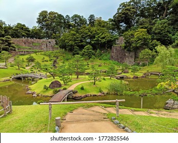 This garden photo was taken just outside one of the castles in Kanazawa early in the morning.