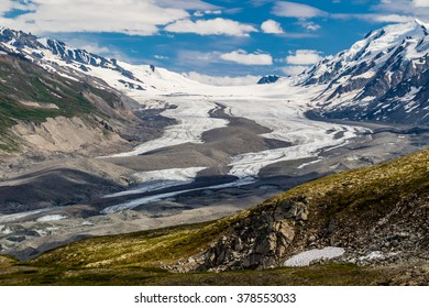 This glacier behind Rainbow Mountain in the Alaska Range feeds the Delta River and eventually sends its water down to the Yukon
