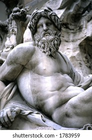 This god is the focal point of the Fountain of Four Rivers in Piazza Navonna.