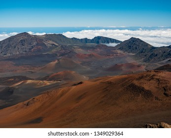 This is Haleakala National park in Maui, Hawaii, United Stats,  It is a dormant volcano and it does feel like you a