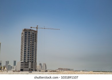 This high-rise in Bahrain was built on land reclaimed from the Persian Gulf.