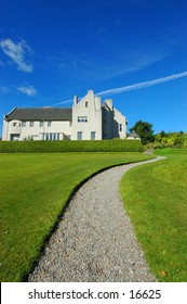 This is the hill house Museum built by the architect Charles Rennie Mackintosh. Helensburgh,Scotland
