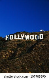 This is the Hollywood Sign in morning light.