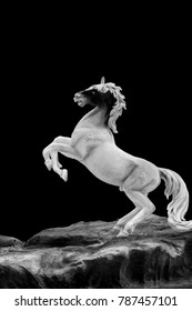 This horse statue is a fairytale horse in Asia.