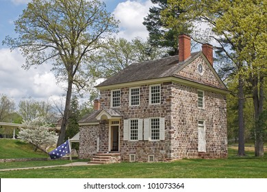 This house at the Valley Forge National Historical Park was George Washington's winter headquarters.Here the General coordinated the daily operations of the of the entire Continental Army.