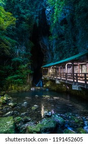 This iconic covered bridge over the Ina River takes visitors past a waterfall and into Japan's largest limestone cave, Akiyoshi-do, in Yamaguchi Prefecture