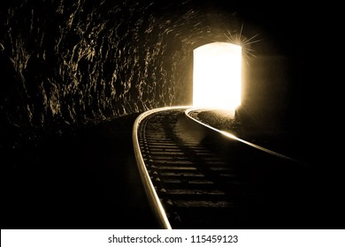 This image brings about hope and strength. In difficult times it is important to keep your faith and hope and reach for the light at the end of the tunnel.