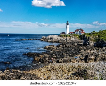 This image was captured at the famous Portland Headlight, also called the Cape Elizabeth Lighthouse in Cape Elizabeth, Maine.
