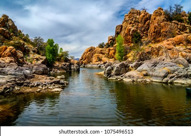 This image was captured on the trail below the Peavine, in the Granite Dells of Prescott, Arizona. This viewpoint is the most magnificent inlet of  Watson Lake.