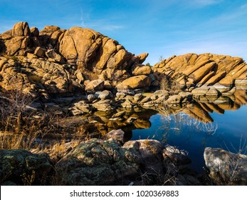 This image was captured in a small cove adjacent to Willow Lake in the Granite Dells of Prescott, Arizona.