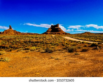 This image was captured at the Valley of the Gods in the Bears Ears National Monument near Mexican Hat, Utah. The land formations are spectacular, similar to the much larger Monument Valley.