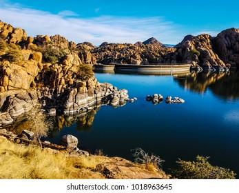 This image was captured in the Watson Lake Dam area of the Granite Dells of Prescott, Arizona.