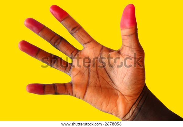 "This is an image of a hand representing ""Fun and Attention Seeking"""