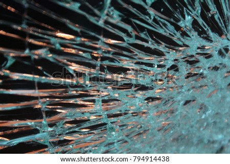 This image is of a shattered piece of glass that was taken in southern England.