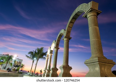 This image shows the Los Arcos in Puerto Vallarta, Mexico