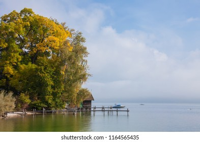 This image shows a sea in autumn