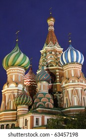 This is an image of St. Basil's Cathedral on Red Square in Moscow, Russian Federation.