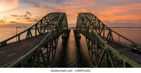 This image was taken from in between the Robert Moses Causeway Bridge, spanning the Great South Bay.
