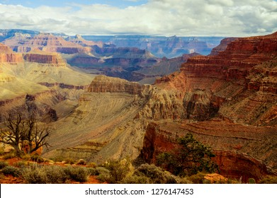 This image was taken near the edge of Yuma Point off the Boucher Trail  in the South Rim of the Grand Canyon of AZ. The North Rim can be seen in the distance across the Colorado River. below.