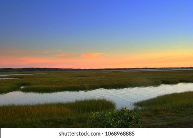 This image was taken shortly before sunrise at the Rachel Carson National Wildlife Refuge, on the coast of Maine.