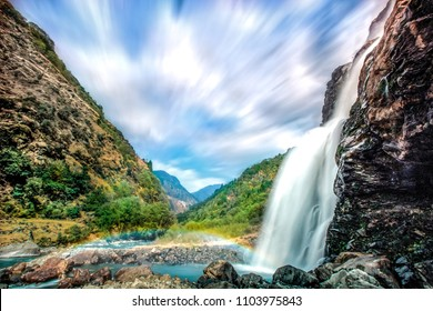 This is Jung waterfall also known as Nuranang Falls, 26km far from Tawang, Arunachal Pradesh, India. To capture this frame with clouds motion I used 10 stop ND filter with very slow shutter speed.