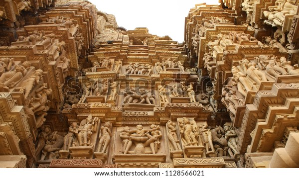 This Kandariya Mahadeva Temple Meaning Great Stock Photo