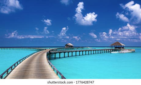 This is the landscape of the island in Maldives