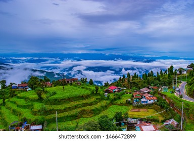 This is a landscape photo of a village in Darjeeling district with a great view of nature and weather of Darjeeling in this rainy season.