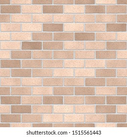 This is a light brown brick wall